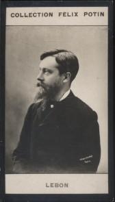 Photographie de la collection Félix Potin (4 x 7,5 cm) représentant : André Lebon, homme politique.. LEBON (André) Photo Ladrey Disdéri.