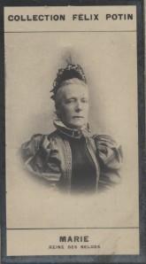 Photographie de la collection Félix Potin (4 x 7,5 cm) représentant : Marie-Henriette - Reine des Belges.. MARIE - Reine des Belges