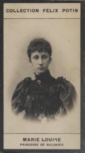 Photographie de la collection Félix Potin (4 x 7,5 cm) représentant : Marie Louise de Bourbon Parme, Princesse de Bulgarie. Début XXe.. MARIE LOUISE ...