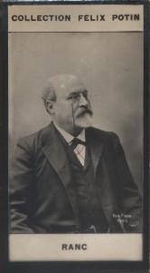 Photographie de la collection Félix Potin (4 x 7,5 cm) représentant : Arthur Ranc, homme politique. Début XXe.. RANC Arthur - (Photo de la collection ...