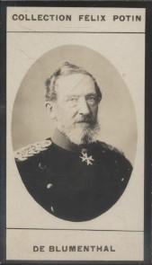 Photographie de la collection Félix Potin (4 x 7,5 cm) représentant : Comte Léonhardt de Blumenthal. Début XXe.. BLUMENTHAL (Léonhardt de) - (Photo de ...