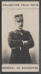 Photographie de la collection Félix Potin (4 x 7,5 cm) représentant : Charles Le Mouton de Boisdeffre, général.. BOISDEFFRE (Général de)