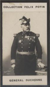 Photographie de la collection Félix Potin (4 x 7,5 cm) représentant : Jacques Duchesne - Général.. DUCHESNE (Jacques) Photo Pierre Petit.
