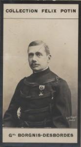 Photographie de la collection Félix Potin (4 x 7,5 cm) représentant : Général Gaston Borgnis-Desbordes.. BORGNIS-DESBORDES (Gaston) Photo Eugène ...