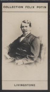 Photographie de la collection Félix Potin (4 x 7,5 cm) représentant : David Livingstone, explorateur. Début XXe.. LIVINGSTONE (David) - (Photo de la ...