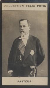 Photographie de la collection Félix Potin (4 x 7,5 cm) représentant : Louis Pasteur, biologiste.. PASTEUR Louis Photo Pirou.