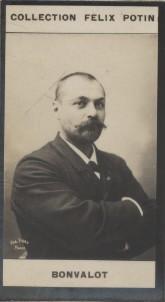 Photographie de la collection Félix Potin (4 x 7,5 cm) représentant : Gabriel Bonvalot (explorateur).. BONVALOT (Gabriel) Photo Eugène Pirou.
