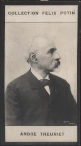 Photographie de la collection Félix Potin (4 x 7,5 cm) représentant : André Theuriet, homme de lettres. Début XXe.. THEURIET André - (Photo de la ...