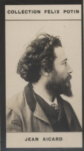 Photographie de la collection Félix Potin (4 x 7,5 cm) représentant :. AICARD (Jean) - (Photo de la collection Félix Potin)