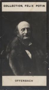 Photographie de la collection Félix Potin (4 x 7,5 cm) représentant : Jacques Offenbach, compositeur.. OFFENBACH Jacques