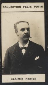 Photographie de la collection Félix Potin (4 x 7,5 cm) représentant : Jean Casimir-Périer, homme politique.. CASIMIR-PERIER Jean- (Photo de la ...