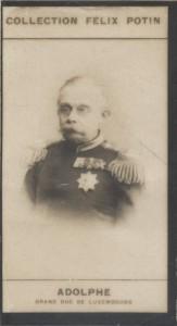 Photographie de la collection Félix Potin (4 x 7,5 cm) représentant : Adolphe - Grand Duc de Luxembourg.. ADOLPHE - Grand Duc de Luxembourg