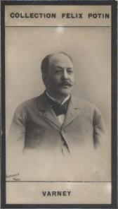 Photographie de la collection Félix Potin (4 x 7,5 cm) représentant : Louis Varney, compositeur. Début XXe.. VARNEY (Louis) - (Photo de la collection ...