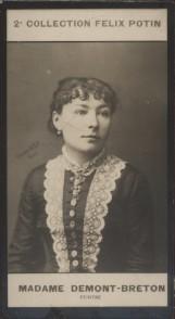 Photographie de la collection Félix Potin (4 x 7,5 cm) représentant : Virginie Demont-Breton, peintre.. DEMONT-BRETON (Virginie) - (Photo de la 2e ...