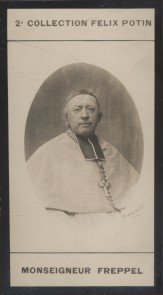 Photographie de la collection Félix Potin (4 x 7,5 cm) représentant : Mgr Freppel, évêque.. FREPPEL (Mgr) - (Photo de la 2e collection Félix Potin)
