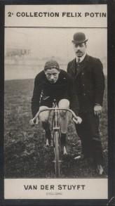 Photographie de la collection Félix Potin (4 x 7,5 cm) représentant : Albrecht Van Der Stuyft, coureur cycliste.. VAN DER STUYFT (Albrecht) - (Photo ...