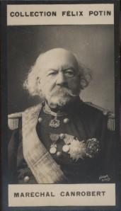 Photographie de la collection Félix Potin (4 x 7,5 cm) représentant : Maréchal François-Certain Canrobert.. CANROBERT (François-Certain)