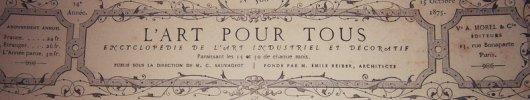 L'art pour tous, encyclopédie de l'art industriel et décoratif. N° 368. Contient 3 gravures en noir et blanc : Statuette de la Sainte-Vierge et de ...