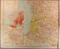 Carte de France routière et kilométrique indiquant les grands itinéraires automobiles. Echelle 1:1 300 000.. CARTE TARIDE FRANCE