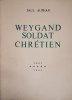 Weygand soldat chrétien.. AUPHAN Paul