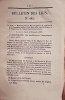 Bulletin des lois. Contient, entre autres, l'ordonnance du Roi qui prescrit la convention conclue entre la France et la Prusse pour le transport des ...