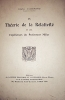 La théorie de la relativité et les expériences du professeur Miller.. LALLEMAND Charles