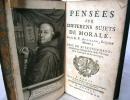 Pensées sur les différents sujets de morale. Avec un avertissement contenant un abrégé de la vie de l'auteur et le catalogue de ses ouvrages.. ...