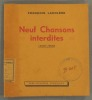 Neuf chansons interdites. 1942-1944.. LACOLERE François (ARAGON)