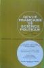 Revue française de science politique. Volume XXI, numéro 3.. REVUE FRANCAISE DE SCIENCE POLITIQUE
