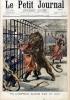Le Petit journal - Supplément illustré N° 522 : Un dompteur blessé par un lion. (Gravure en première page). Gravure en dernière page : Terrible ...