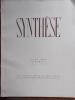 Synthèse N° 8. Août 1934.. SYNTHESE