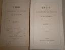 Union catholique et sociale de la Touraine, bulletins N° 1 à 8.. UNION CATHOLIQUE ET SOCIALE DE LA TOURAINE