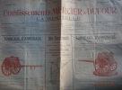 Etablissements Mercier et Dufour - La Rochelle. Circulaire N° 174. 4 pages : Tonneaux d'arrosage, voiturettes du génie, pompes et matériel divers.. ...
