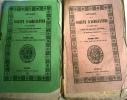 Annales de la société d'agriculture, sciences, arts et belles lettres du département d'Indre-et-Loire. Année 1850. Année complète en 2 volumes.. ...