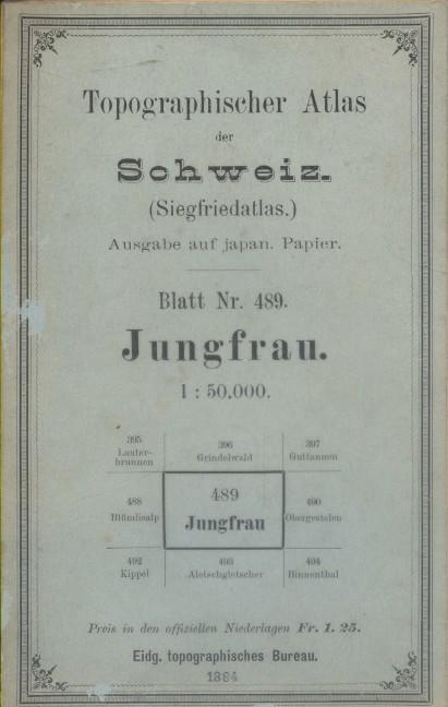 Topographischer Atlas der Schweiz. (Siegfriedatlas). Blatt Nr. 489. Altdorf. Sect. XVIII - 2.. TOPOGRAPHISHER ATLAS DER SCHWEIZ - JUNGFRAU