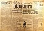 Le Monde libertaire N° 49. Organe de la Fédération anarchiste. Mensuel.. LE MONDE LIBERTAIRE