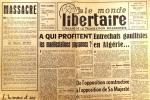 Le Monde libertaire N° 59. Organe de la Fédération anarchiste. Mensuel. Algérie ; Manifestations paysannes ; Rabelais ; Pologne ; Etats-Unis .... LE ...