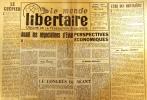 Le Monde libertaire N° 69. Organe de la Fédération anarchiste. Mensuel. Avril 1961.. Collectif : LE MONDE LIBERTAIRE