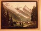 CHAMONIX et le Mont Blanc. env. 1900. Photo chromographie. ( Photographe éditeur à Zurich ).