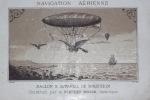 NAVIGATION  AERIENNE  .  DIRECTION  DES  BALLONS  . Notes sur le ballon et l ' appareil de direction et d ' aviation inventé et construit par J-C ...