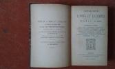 Catalogue des livres et estampes composant la bibliothèque de Feu M. A. G. (de Nantes) 1ère et 2ème parties / Catalogue d'un choix de livres rares et ...