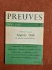 """Germaine Tillion. Algérie 1958 - Les ennemis complémentaires . Revue """"Preuves"""""""