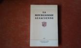 La bourgeoisie alsacienne - Etudes d'histoire sociale . SCHLUMBERGER Jean (préfacé par)