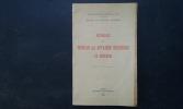 Historique du Bureau des Affaires Indigènes de Médenine . Résidence Générale de France à Tunis / Service des Affaires Indigènes