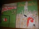 RIDENDO -REVUE GAIE POUR LE MEDECIN-(2 REVUES) N° 122 et N°125 JUILLET ET DECEMBRE 1948 .