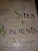 SITES ET MONUMENTS- L'AUVERGNE (PUY DE DOME- CANTAL). TOURING CLUB DE FRANCE