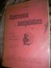EXPERIENCES ET MANIPULATIONS - CHIMIE PHYSIQUE MECANIQUE. BOIS J.-F.