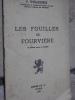 LES FOUILLES DE FOURVIERE . WUILLEUMIER P.
