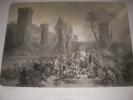 JEANNE D'ARC BLESSEE SOUS LES MURS DE PARIS- LE 8 SEPTEMBRE 1429. [LITHOGRAPHIE] BAYOT A.