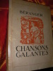 CHANSONS GALANTES. BERANGER-(ANDRE COLLOT]